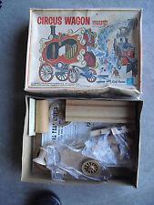 Vintage 1971 Craft Master Circus Wagon Wooden Kit in Box