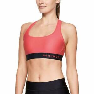 Under Armour Womens Watermelon HeatGear Mid Impact Padded Sports Bra Size XS $35