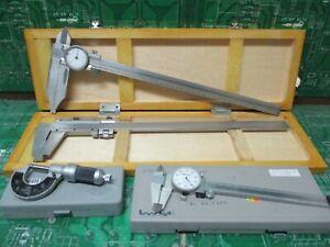 Mitutoyo Helios Fowler Etalon Dial Caliper Micrometer, Lot of 4