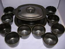 Hall 2820 Tureen & Platter w/10 Rice or Soup Bowls