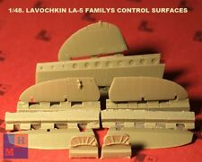 "1/48. Lavochkin La-5 control surfaces resin set,  by ""NeOmega"""