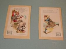 1900 Dwight's Soda Nursery Rhymes Victorian Trade Card Lot Old King Cole Tom Pig