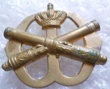 Badge- Netherlands Army Field Artillery Cap Badge, 2 Lug (All BRASS, Genuine*)