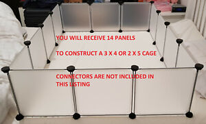 C&C CC Cage Run Guinea Pig Rabbit 3 x 4 or 2 x 5 | 14x Panels No Connectors