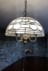 NEW HAVERFORD 3 LIGHT PENDANT GRAPHICAL GLASS SHADE Beautiful Lighting Fixture