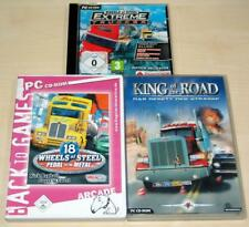 3 PC SPIELE SAMMLUNG 18 WHEELS OF STEEL EXTREME TRUCKER PEDAL METAL KING OF ROAD
