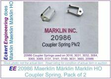 EE 20986 New Maerklin Märklin Marklin HO Coupler Springs for 3016 3031 3032 Pk/2