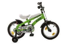 """Kinderfahrrad 14"""" Kawasaki -Kidd mit Seitenständer grün-schwarz 511-KW-34"""