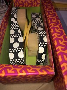 Tory Burch womens Daisy Darby Thandie Wedge Flip Flop sz 5 new in box