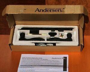 Andersen Hinged Door Hardware Newbury Oil Rubbed Bronze set #2579742