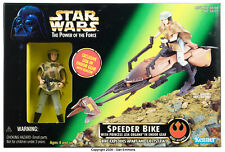 STAR WARS POWER OF THE FORCE SPEEDER MOTO con / Princesa Leia Organa 1997 HASBRO