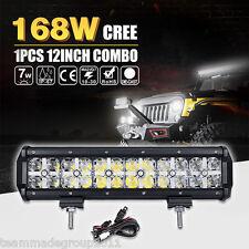 DRL LAMP 12INCH 168W CREE LED LIGHT BAR SPOT FLOOD COMBO MASK 14 PK 5D 72W OSRAM