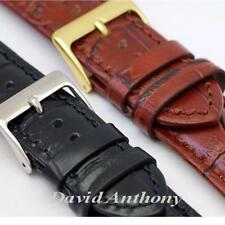 LUXURY ITALIAN CALF LEATHER WATCH STRAP. QUICK RELEASE SPRING BARS. 18mm to 24mm