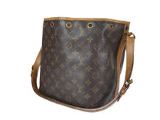 LOUIS VUITTON Petit Noe Monogram Canvas Leather Drawstring Shoulder Bag LS2616