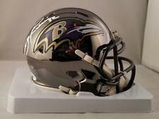 Ray Lewis Autographed Signed Chrome Mini Helmet Baltimore Ravens JSA