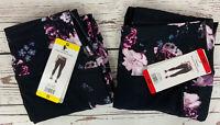 Skechers Ladies Go Flex High Waisted 7/8 Leggings Black/Mulit Pink Various Sizes