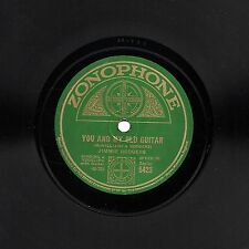 RARE JIMMIE RODGERS 78 YOU AND MY OLD GUITAR / MY LITTLE LADY  ZONOPHONE 5423 E-