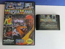 vintage SEGA GENESIS wwf SUPER WRESTLEMANIA VIDEO GAME boxed SEGA MEGA DRIVE 38i