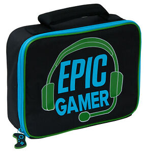 Boys Epic Gamer Insulated Lunch Bag Kids Gaming Back to School Travel Lunch Box