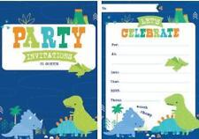 Dino-roar Dinosaur Padded Invitations 20 Sheets