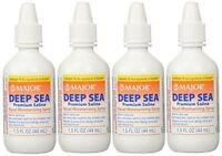 Major Deep Sea Nasal Saline Spray 1.5 Oz (44ml) -4 Pack -Expiration Date 12-2021