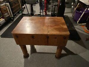 Vintage Maple Butcher Block Table