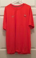 University of Virginia UVA Cavaliers Football Team Issued Orange T-Shirt Medium