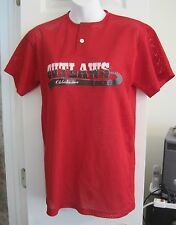 Teamwork athletic apparel Oklahoma Outlaws red mesh shirt size small #35