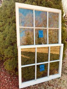 2 - 29 x 23-1/2 Vintage Window sash old 6 pane Top & Bottom From 1964