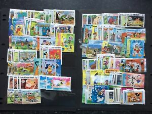 DISNEY STAMPS - SMALL COLLECTION OF 400 DIFFERENT UNMOUNTED MINT DISNEY STAMPS