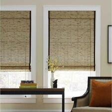 Real Simple Tortoise Corded Natural Bamboo Roman Shade - 30 in. W x 72 in. L