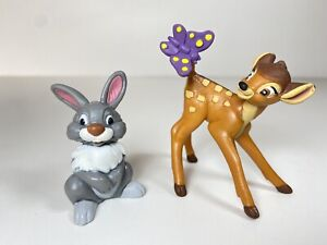 Bullyland Bambi And Thumper Hand painted Figurine