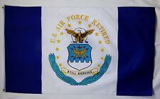Air Force Retired Emblem Flag 3' x 5' Indoor Outdoor Offically Licensed Banner