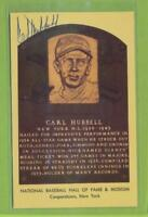 Autographed Hall of Fame Postcard   Carl Hubbell  New York Giants   (d 1988) CH2
