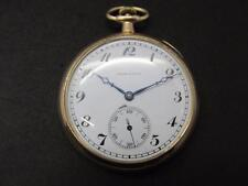 Vintage 14k Solid Yellow Gold Hamilton 12s Pocket watch 45mm  914 Movement