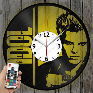 LED Clock BILLY IDOL Record Clock Art Decor Original Gift 6096
