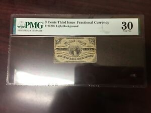 3rd Issue Fractional Currency 3 Cents Choice VF-30 PMG (FR#1226)