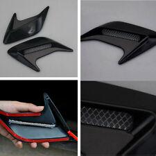 1pair Universal Car Hood Side Flow Vent Fender Air Net Door Decals Auto Sticker