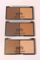 Yurily UK Pressed Powder Face Contour & Highlighter Kit - Light, Medium & Dark