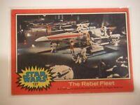 Star Wars Series 2 (Red) Topps 1977 Trading Card # 127 The Rebel Fleet