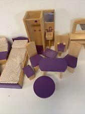 Vintage Barbie Wooden Furniture 15 Pieces