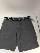 Club Room Pleated Twill Men's Shorts With Belt Size 34