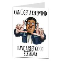 Funny Birthday Card Silly Quirky Unusual Men Women Can I Get A Reeewind