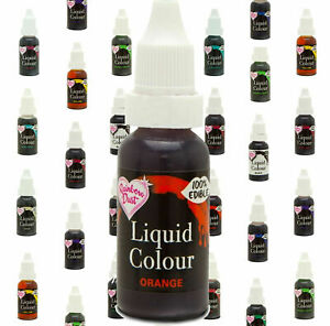 Rainbow Dust Flo Liquid Colours Airbrush Edible cake Food Colouring decoration