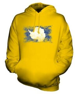 ANTARTICA DISTRESSED FLAG UNISEX HOODIE TOP FOOTBALL GIFT CLOTHING JERSEY