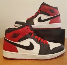 2006 Nike Air Jordan 1 Retro Old Love New Love Black Toe UK 9 US 10 136085 102 *