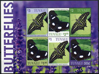 Tuvalu Butterflies Stamps 2020 MNH Great Eggfly Triangle Butterfly 6v M/S