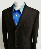 BANANA REPUBLIC Mens Brown Striped Cotton Three-Button Blazer 38S