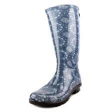 Ugg Australia Shaye Bandana Women US 8 Blue Rain Boot UK 6.5 EU 39