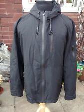 Mens Firetrap Light weight Black Hoodie Jacket Size XL